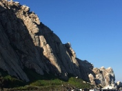 Closer shot of Morro Rock