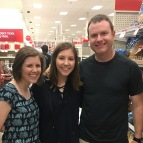 We stopped off at target in Auburn and ran into a former student of mine. We love Katie!