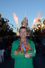 Picture with the Dopey Medals in front of the castle