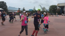 Running through Epcot during the marathon (almost done!)