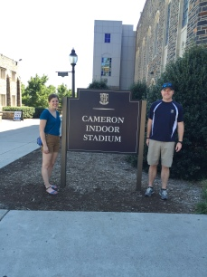 Outside Cameron Indoor Stadium