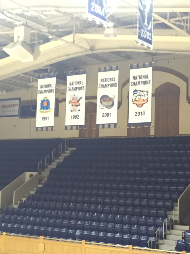1991, 1992, 2001, 2010 National Title Banners (2015 was hung this season)