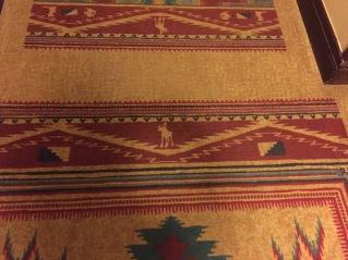 Hidden Mickey carpet!