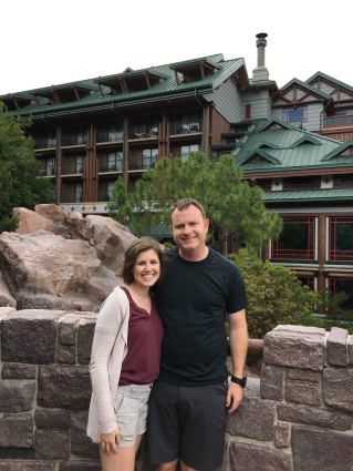 We took a lot of pictures of us around the Wilderness Lodge