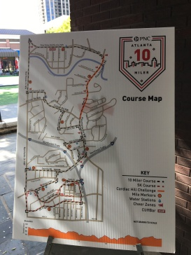10 Miler Course Map